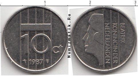 Каталог монет - Нидерланды 10 центов