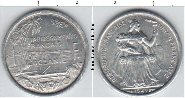Каталог монет - Океания 1 франк