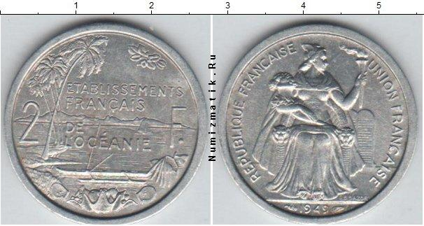 Каталог монет - Океания 2 франка