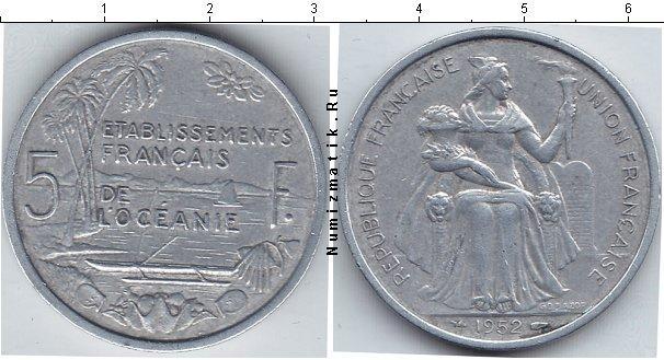 Каталог монет - Океания 5 франков