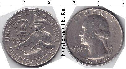 Каталог монет - США 25 центов