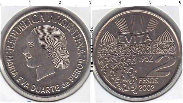 Каталог монет - Аргентина 2 песо