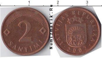 Каталог монет - Латвия 2 сантима