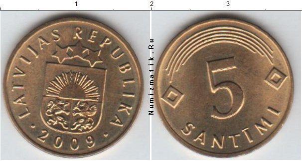 Каталог монет - Латвия 5 сантим