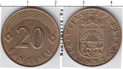 Каталог монет - Латвия 20 сантим
