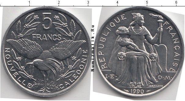 Каталог монет - Новая Каледония 5 франков