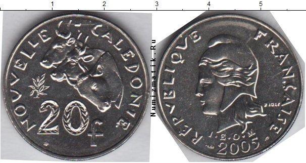 Каталог монет - Новая Каледония 20 франков