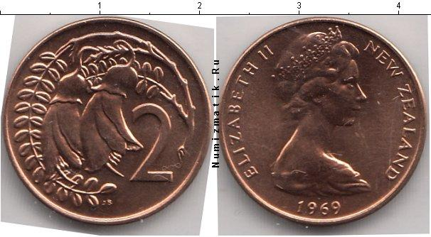 Каталог монет - Новая Зеландия 2 цента