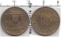 Каталог монет - монета  Саар 10 франков