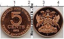 Каталог монет - монета  Тринидад и Тобаго 5 центов