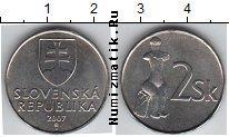 Каталог монет - монета  Словакия 2 кроны