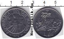 Каталог монет - монета  Сан-Марино 100 лир