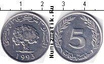 Каталог монет - монета  Тунис 5 миллим
