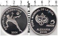 Продать Монеты Аргентина 5 песо 2004 Серебро
