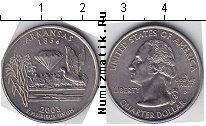 Каталог монет - монета  США 1/4 доллара