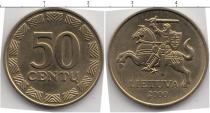 Каталог монет - монета  Литва 50 центов