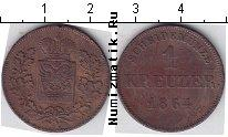 Каталог монет - монета  Шварцбург-Рудольфштадт 1 крейцер