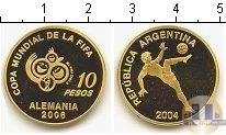 Продать Монеты Аргентина 10 песо 2004 Золото