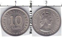 Каталог монет - монета  Борнео 10 центов