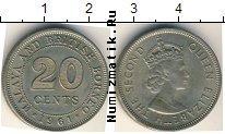 Каталог монет - монета  Борнео 20 центов