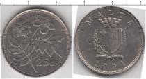 Каталог монет - монета  Мальта 25 центов