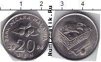 Каталог монет - монета  Малайзия 20 сен