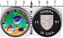 Каталог монет - монета  Гана 10 сика