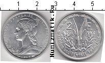 Каталог монет - монета  Французская Африка 2 франка