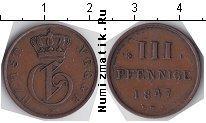 Каталог монет - монета  Мекленбург-Стрелитц 3 пфеннига