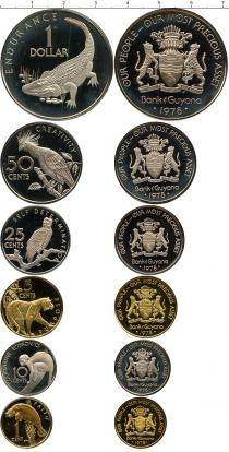 Каталог - подарочный набор  Гайана Набор монет 1976 года в качестве proof