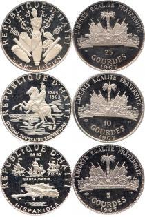 Каталог - подарочный набор  Гаити Памятные монеты 1968