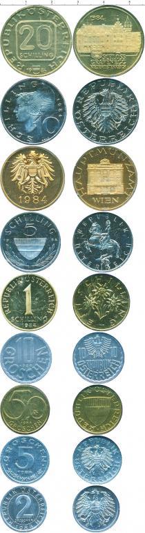 Каталог - подарочный набор  Австрия Набор монет 1984 года