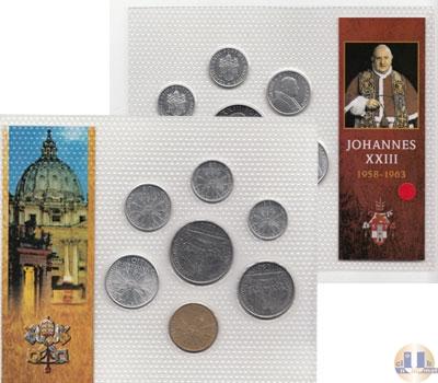 Каталог - подарочный набор  Ватикан Набор монет 1963 года