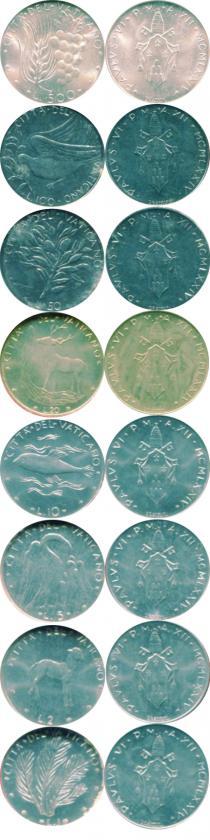 Каталог - подарочный набор  Ватикан Набор монет 1974 года