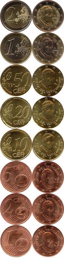 Продать Подарочные монеты Ватикан Евронабор 2008 2008