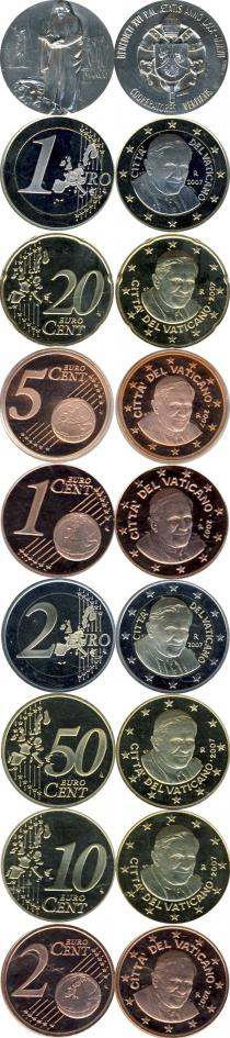 Каталог - подарочный набор  Ватикан Подарочный набор евро 2007
