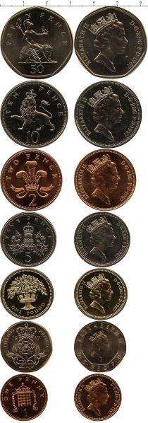 Каталог - подарочный набор  Великобритания Набор монет 1987 года