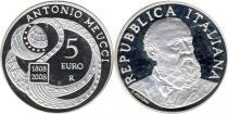 Продать Подарочные монеты Италия 200-летие Антонио Меуччи 2008 Серебро