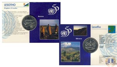 Каталог - подарочный набор  Лесото 50-летие ООН