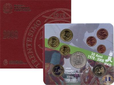 Продать Подарочные монеты Италия Евронабор 2008 2008
