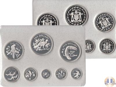 Каталог - подарочный набор  Белиз Набор proof-монет 1975 года
