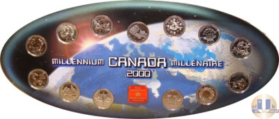 Продать Подарочные монеты Канада Памятные четвертаки 2000