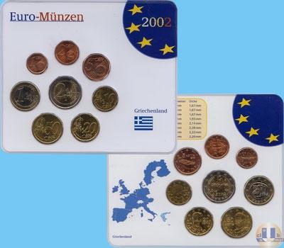 Каталог - подарочный набор  Греция Евро монеты Греции
