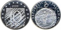 Продать Подарочные монеты Италия Мир и свобода в Европе 2005 Серебро