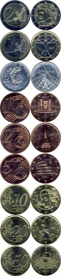 Продать Подарочные монеты Италия Евронабор 2007 года 2007