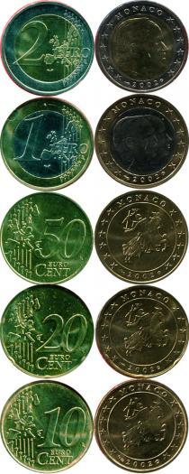 Каталог - подарочный набор  Монако Набор монет 2002 года