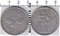 Каталог монет - монета  Каледония 5 франков
