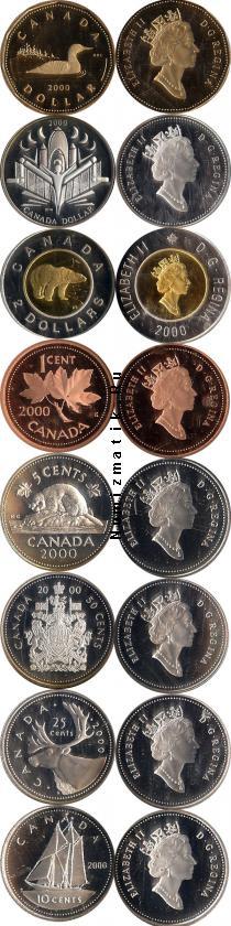 Продать Подарочные монеты Канада Выпуск 2000 года 2000