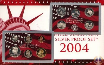 Каталог - подарочный набор  США Набор монет 2004 года в качестве proof