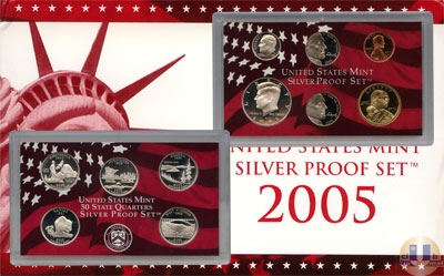 Каталог - подарочный набор  США Набор монет 2005 года в качестве proof